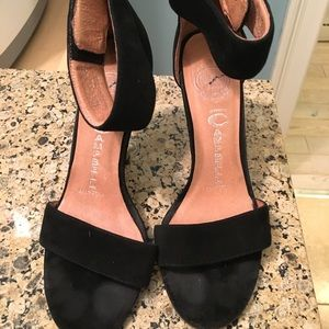 Jeffrey Campbell, black heels with ankle strap